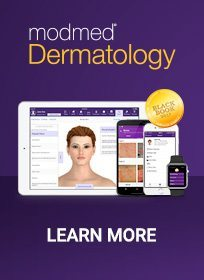 modmed dermatology logo - iPad, smartphones and desktop computer - Learn more